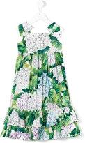 Dolce & Gabbana hydrangea print dress - kids - Cotton - 4 yrs