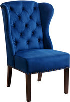 One Kings Lane Darby Wingback Side Chair, Navy Velvet