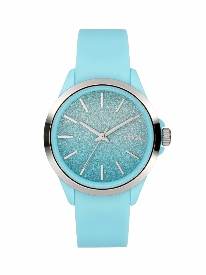 S'Oliver Girl's Analogue Quartz Watch with Silicone Strap SO-4006-PQ