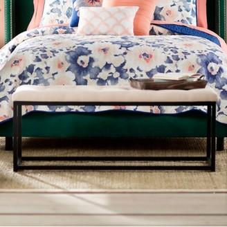 Mercury Row Landry Upholstered Bench Upholstery: Linen-Beige