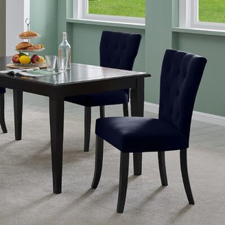 Charlton Home Kern Solid Wood Dining Chair Charlton Home Upholstery Color: Soft Charcoal Gray Velvet