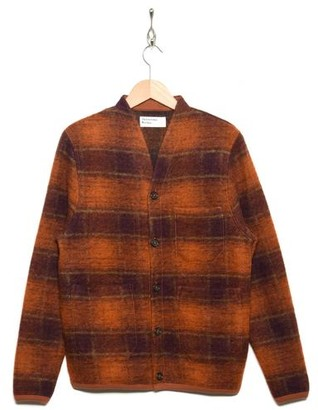 Universal Works Cardigan Austin Wool Fleece 23698 Orange - S