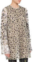 Altuzarra Pandora Sequined Floral-Embroidered Tunic, White