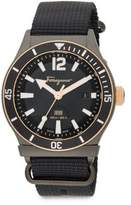 Salvatore Ferragamo Round Stainless Steel Watch