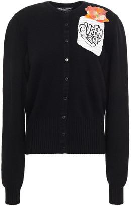 Dolce & Gabbana Appliqued Wool Cardigan