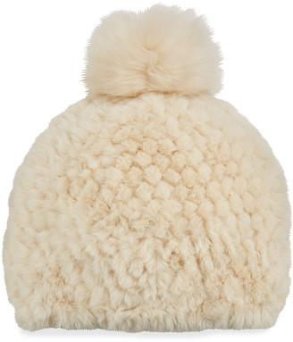 Fabulous Furs Knitted Faux Fur Beanie