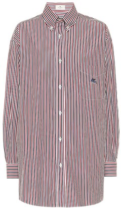 Etro Striped oversized cotton shirt