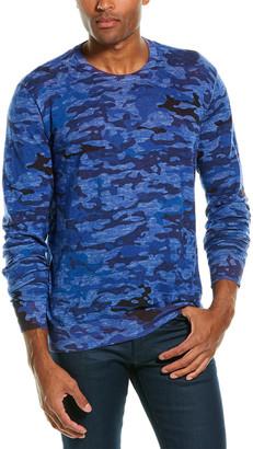 Robert Graham Commander Linen-Blend Crewneck Sweater