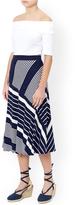 Monsoon Melinda Stripe Midi Skirt