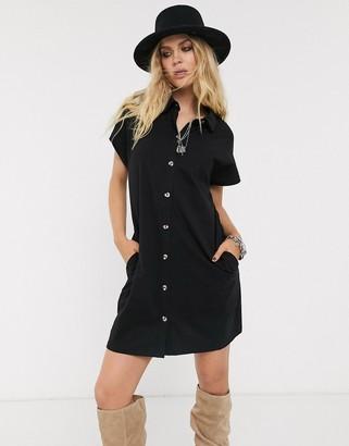 ASOS DESIGN shirt dress in black