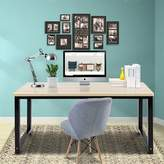 "BEIGE Barger Writing Desk Wrought Studio Size: 29.2"" H x 55.2"" W x 23.6"" D, Color"