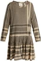 CECILIE COPENHAGEN Beat round-neck scarf-jacquard cotton dress