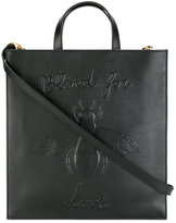 Gucci Blind for Love bee embossed tote - men - Cotton/Leather - One Size