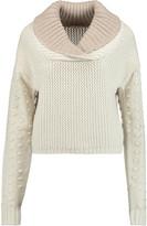 See by Chloe Paneled alpaca-blend sweater