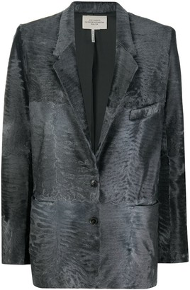 Hermes Pre-Owned Textured Straight-Fit Blazer