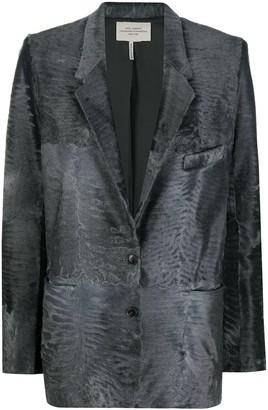 Hermes Textured Straight-Fit Blazer