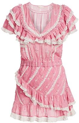 LoveShackFancy Bonita Ruffles & Lace Dress