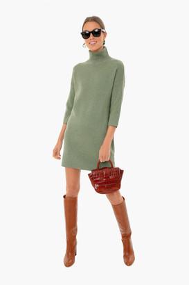 Pomander Place Sage Green Vivianne Turtleneck Dress