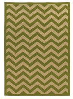 Linon Green Chevron Reversible Outdoor Rug (6'6 x 9'6)