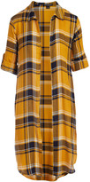 story. Thread Women's Open Cardigans MUSTARD - Mustard Plaid Short-Sleeve Open Cardigan - Women