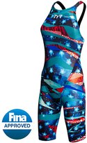 TYR Limited Edition Avictor Omaha Nights Female Closed Back Kneeskin Tech Suit 8143648