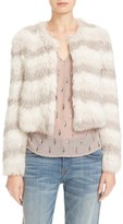 Joie Women's Toshi Genuine Rabbit Fur Crop Jacket