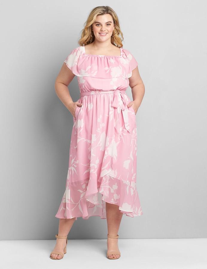 Lane Bryant Multi-Way Neckline High-Low Maxi Dress