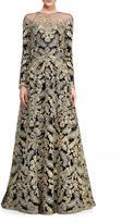 Tadashi Shoji Long Sleeve Gown