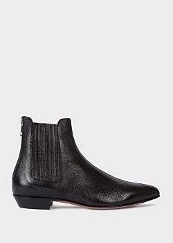 Women's Black Leather 'Nicks' Chelsea Boots