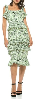 Alexia Admor Liv Floral Ruffle Dress