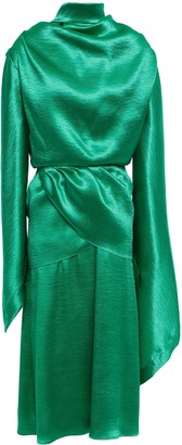 Christopher Kane Open-back Draped Satin-crepe Midi Dress