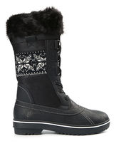 Northside Bishop Womens Lace Up Water Resistant Slip Resistant Winter Boots