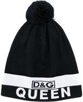 Dolce & Gabbana logo queen intarsia hat