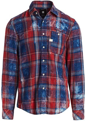 G Star Faded Flannel Check Shirt