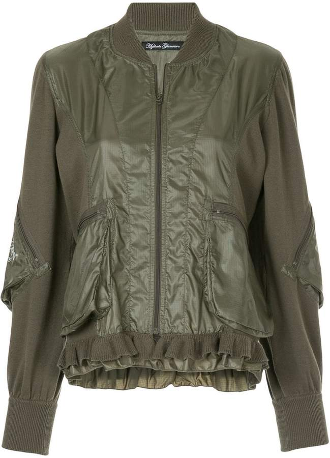 Hysteric Glamour Adios frill trim bomber jacket