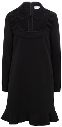 RED Valentino tulle-trimmed crepe minidress