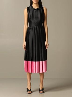 MSGM Long Dress With Jewel Chain