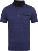 Hugo Desaro Deep Blue Marl Pique Polo Shirt