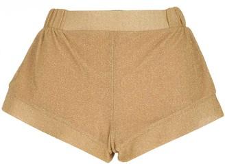 Oseree Lurex Stretch Shorts