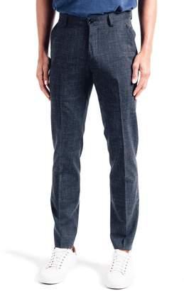 Good Man Brand Soho Slim Fit Flat Front Stretch Wool & Linen Dress Pants