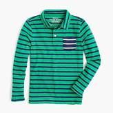 J.Crew Boys' long-sleeve mixed-stripe polo shirt
