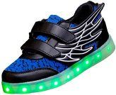 Topteck Kid Boy Girl 7 Colors Rechargeable LED Casual Shoes Light Up Changing Sneakers Luminous Student Dance Boots