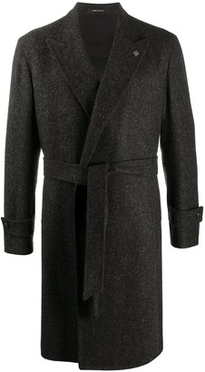Tagliatore Belted Single-Breasted Coat