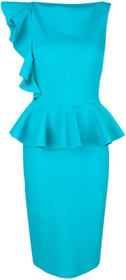 Chiara Boni Dinara peplum hem fitted dress