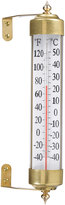Rejuvenation Antique Brass Outdoor Thermometer