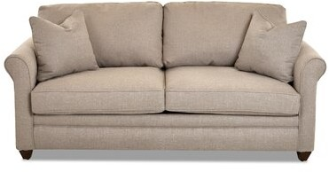 """Thumbnail for your product : Winston Porter Zac 79"""" Round Arm Sofa Bed Upholstery Material/Body Fabric: Macc Ecru"""