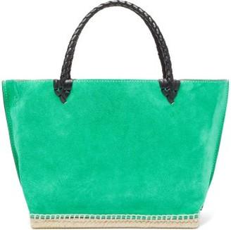 Altuzarra Espadrille Small Suede Tote Bag - Womens - Green