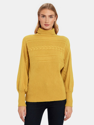 J.o.a. Turtleneck Cable Knit Pullover Sweater