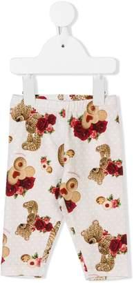 MonnaLisa printed polka dot leggings