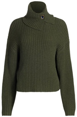 REMAIN Birger Christensen Francine Roll-Neck Wool Sweater